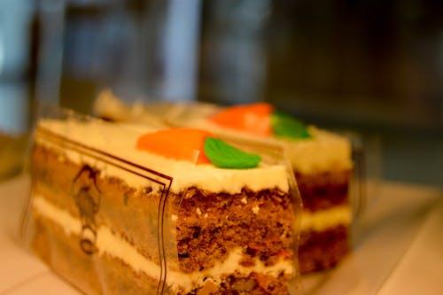 Free stock photo of cake, cake piece, Carrot Cake