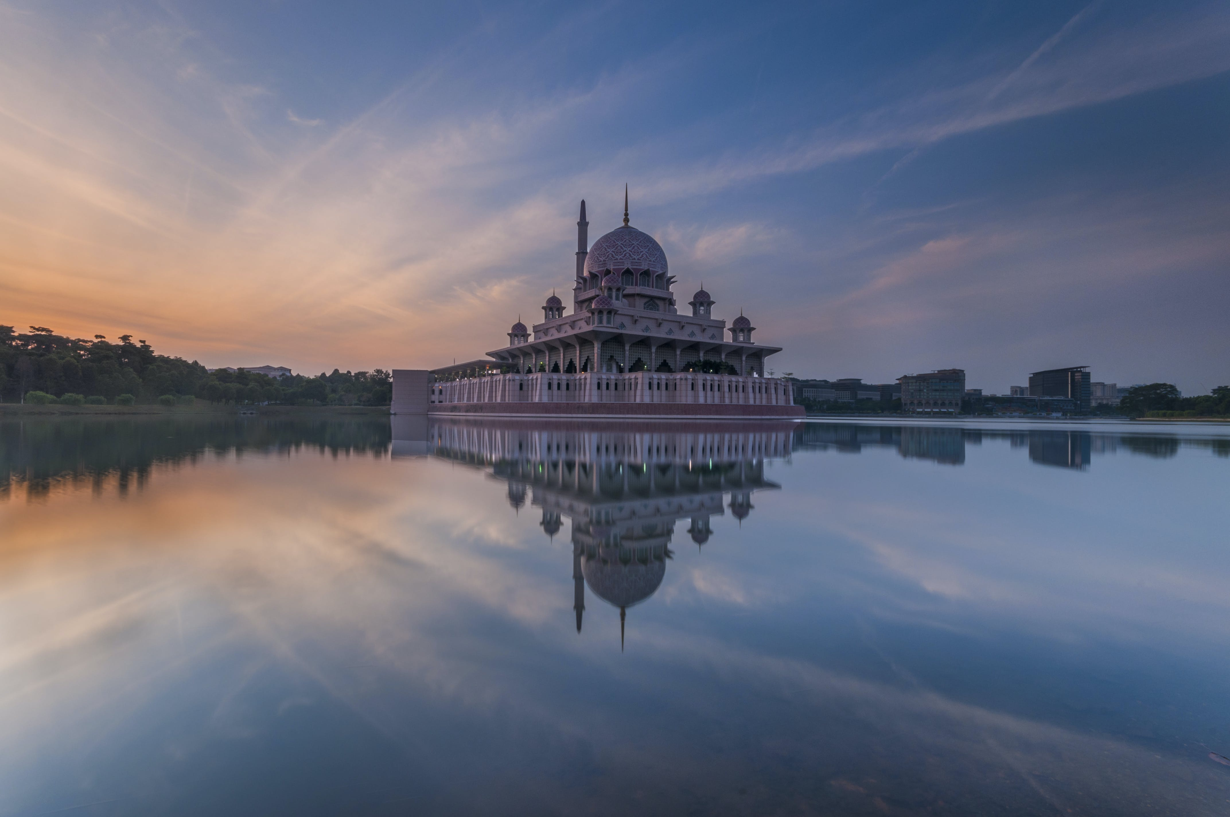 White Dome Building Reflected on Water