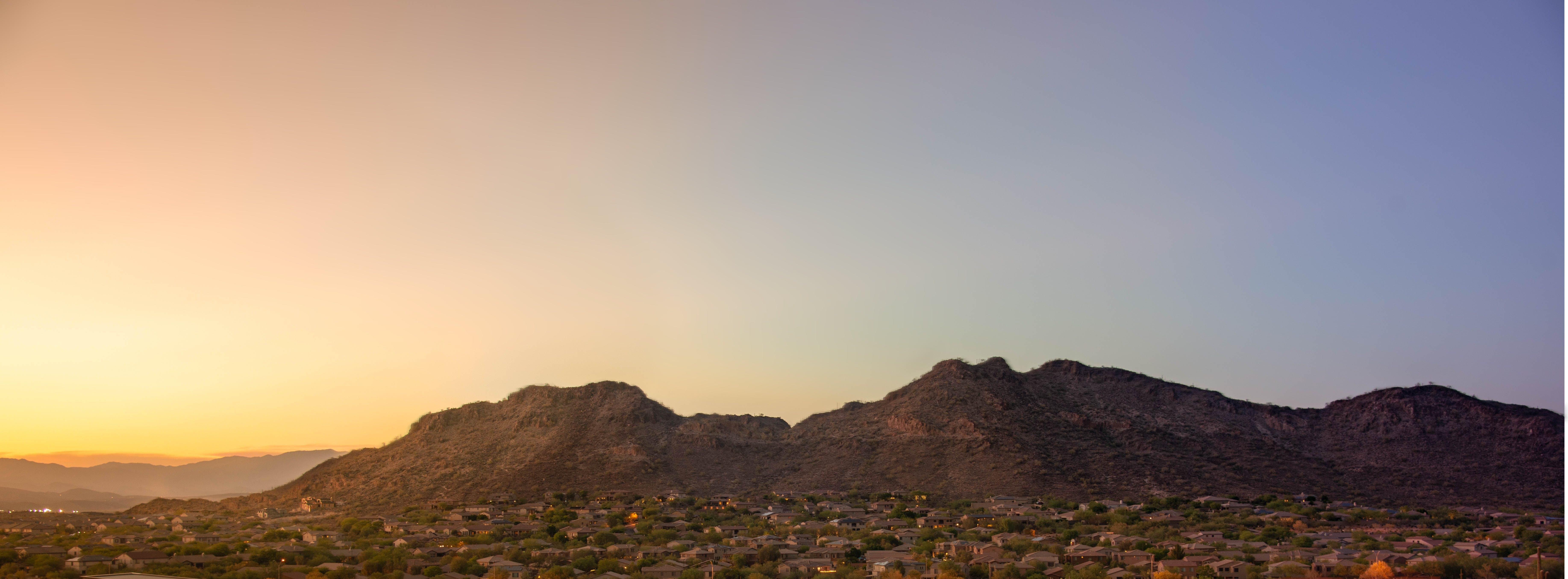 Free stock photo of desert, mountain, sunset, wide angle