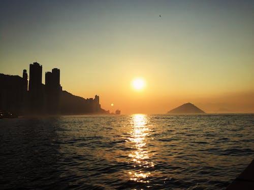 Základová fotografie zdarma na téma hora, moře, obloha, oranžová