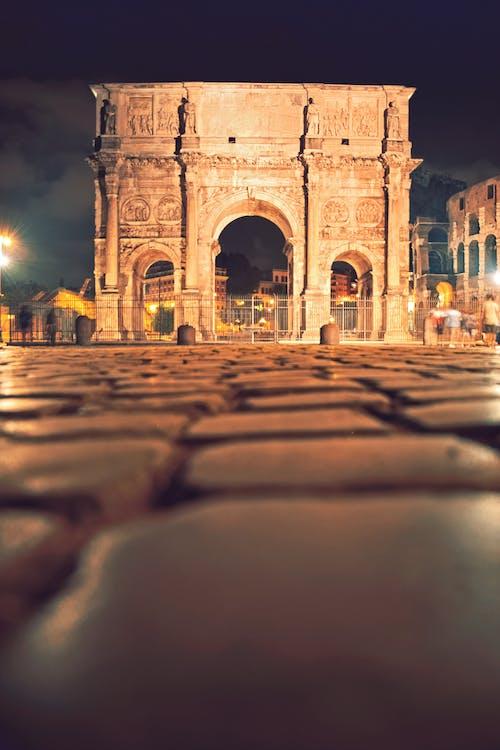 人, 君士坦丁凱旋門, 晚上 的 免費圖庫相片