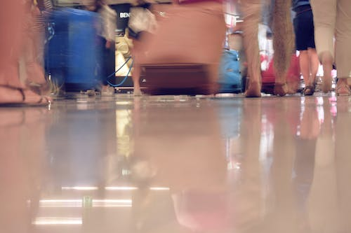 Free stock photo of airport, bags, crowd