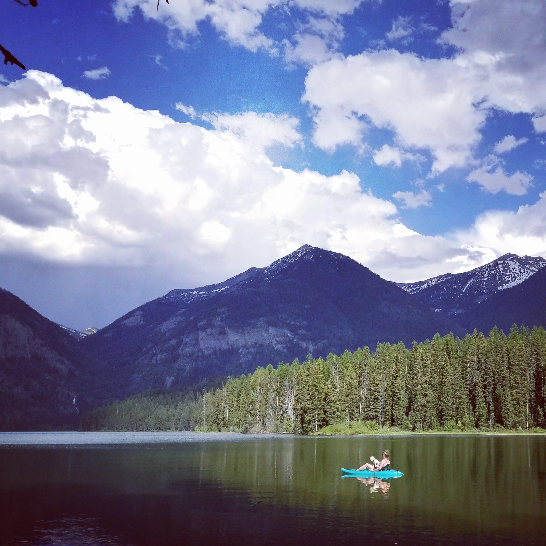 Free stock photo of boat, kayak, mountains