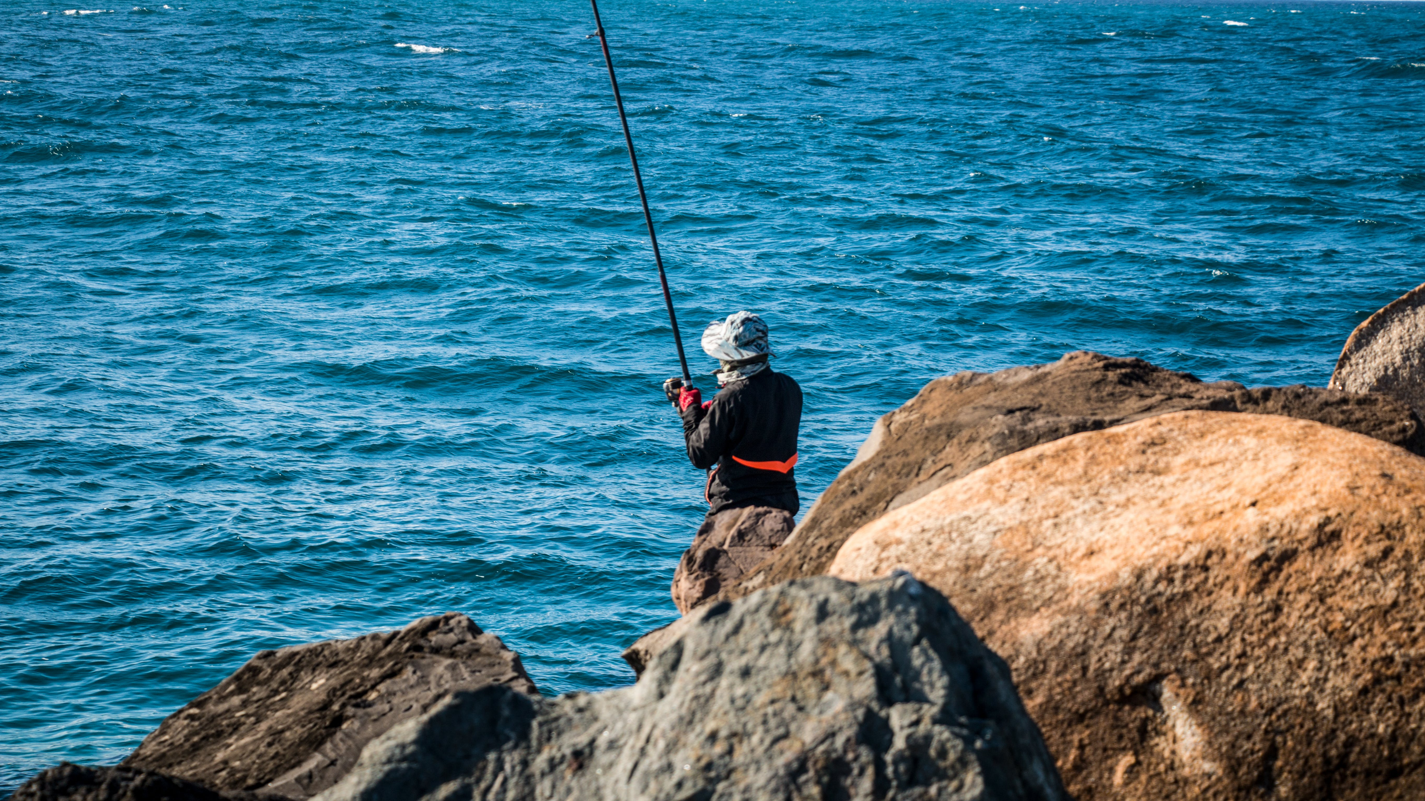 Free stock photo of fishing, lonely, man, peaceful