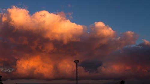 Foto d'estoc gratuïta de cel, cel blau, cel vermell, foc