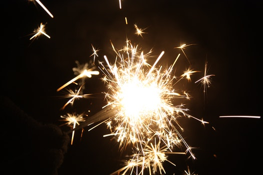 Free stock photo of new year's eve, sparkler, december 31, sylvester