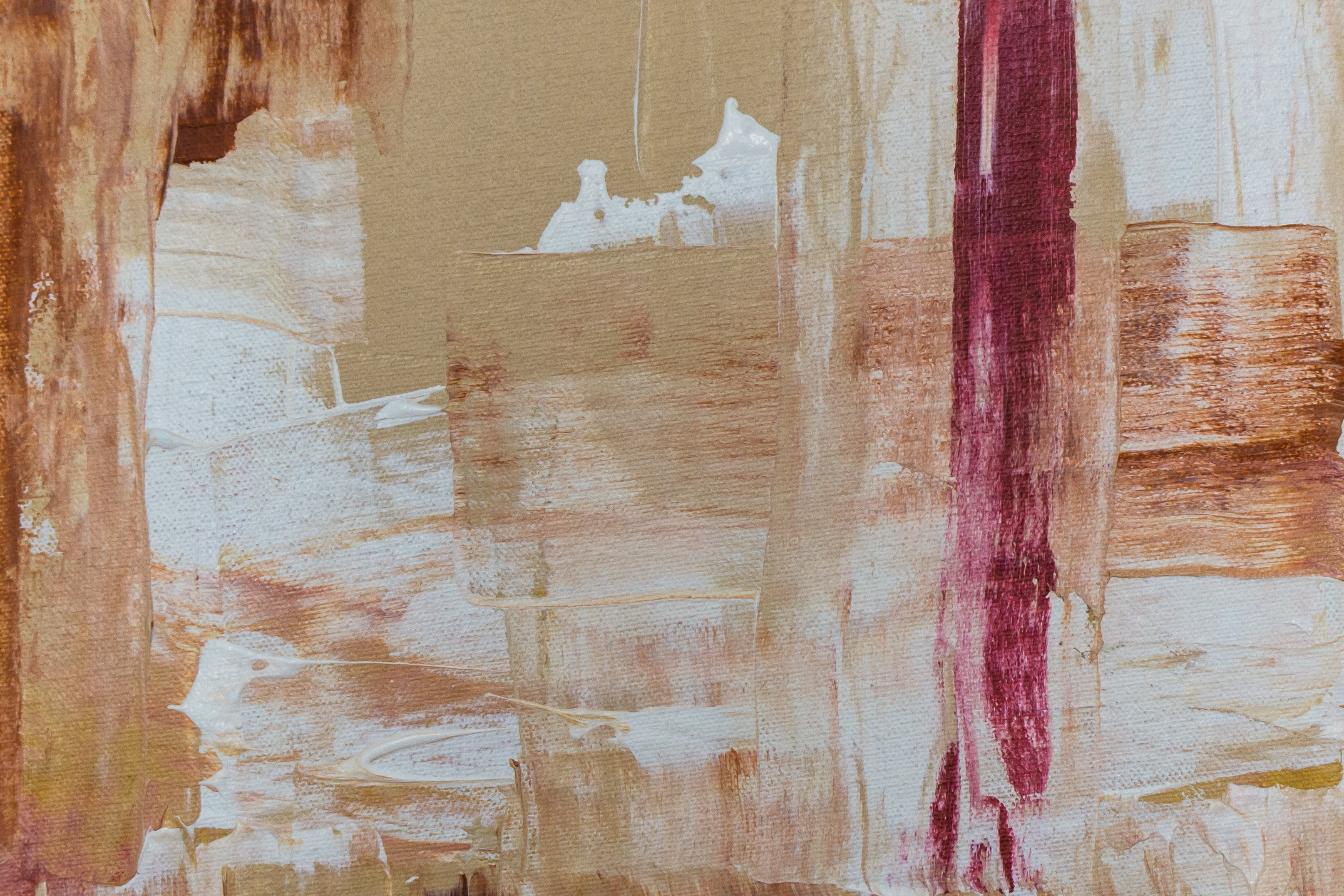 Red And Beige Abstract Painting