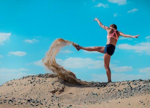 Základová fotografie zdarma na téma kop, osoba, písek, poušť
