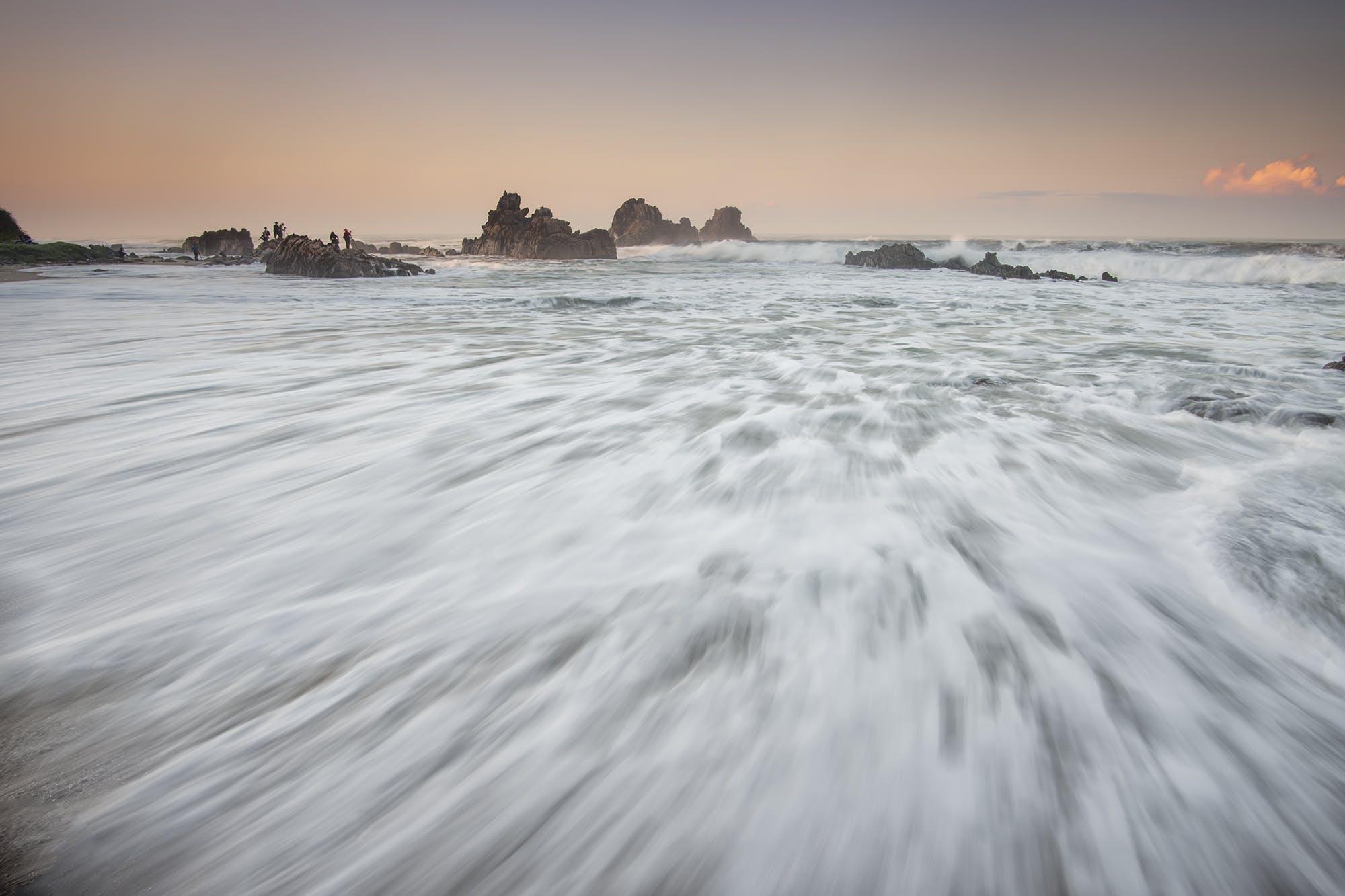 Gratis lagerfoto af bølger, folk, hav, havudsigt