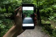 nature, hand, iphone