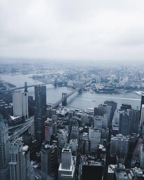 Kostnadsfri bild av byggnader, dis, fågelperspektiv, horisont
