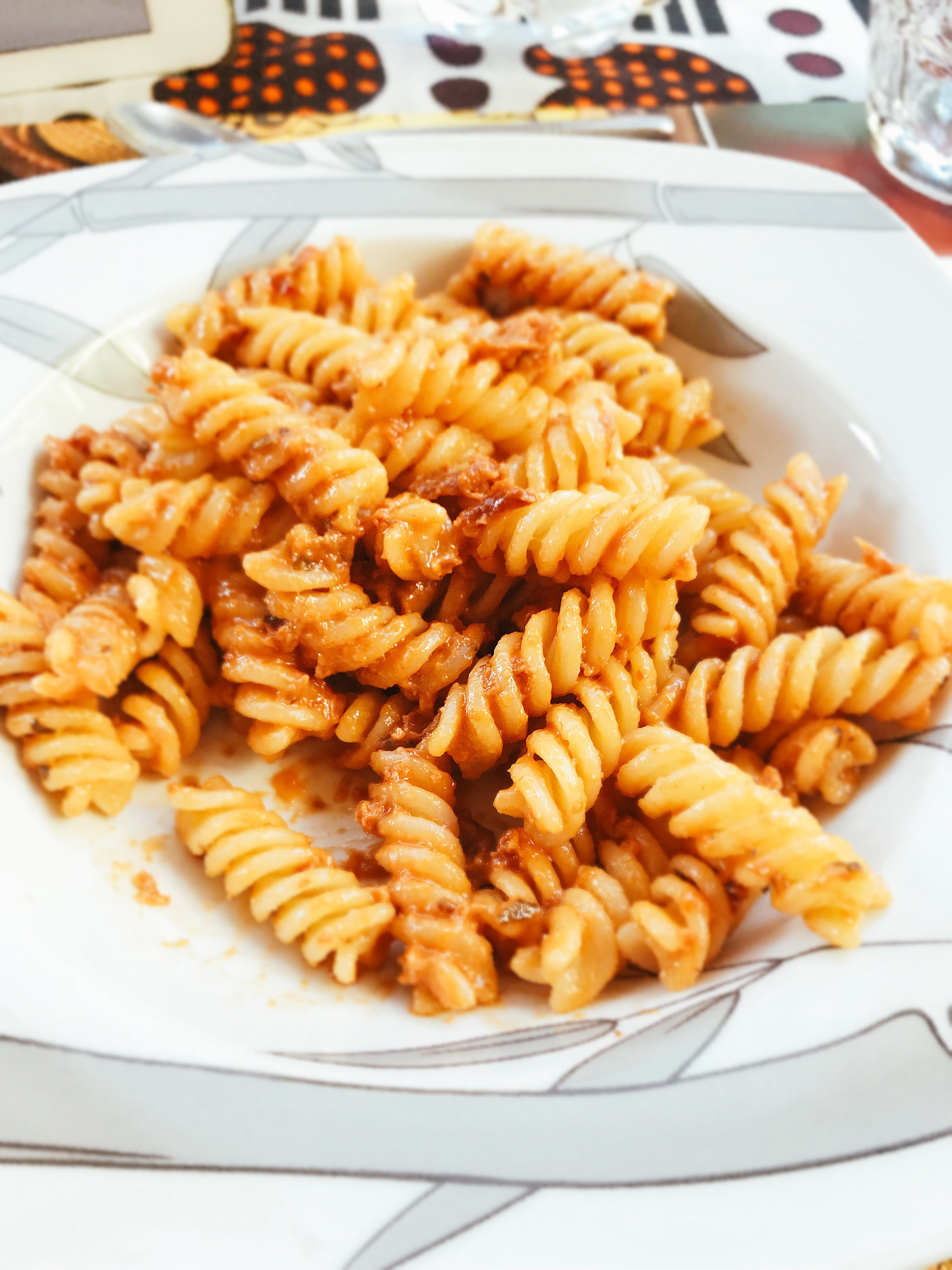 Pasta On Plate