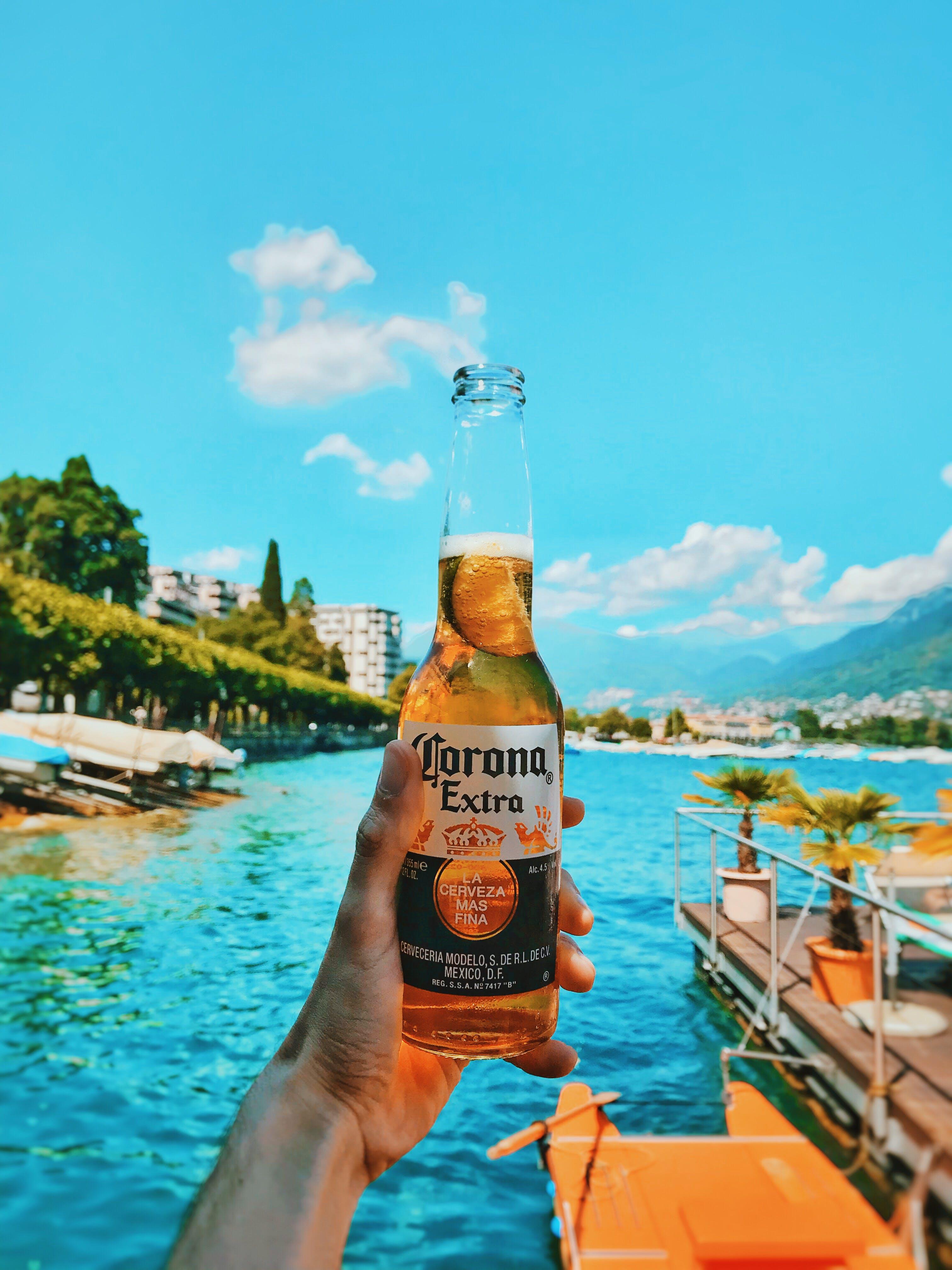 Kostenloses Stock Foto zu bier, flasche, getränk, ozean
