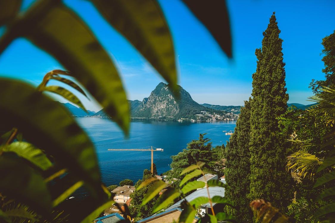 Základová fotografie zdarma na téma denní světlo, domy, hora