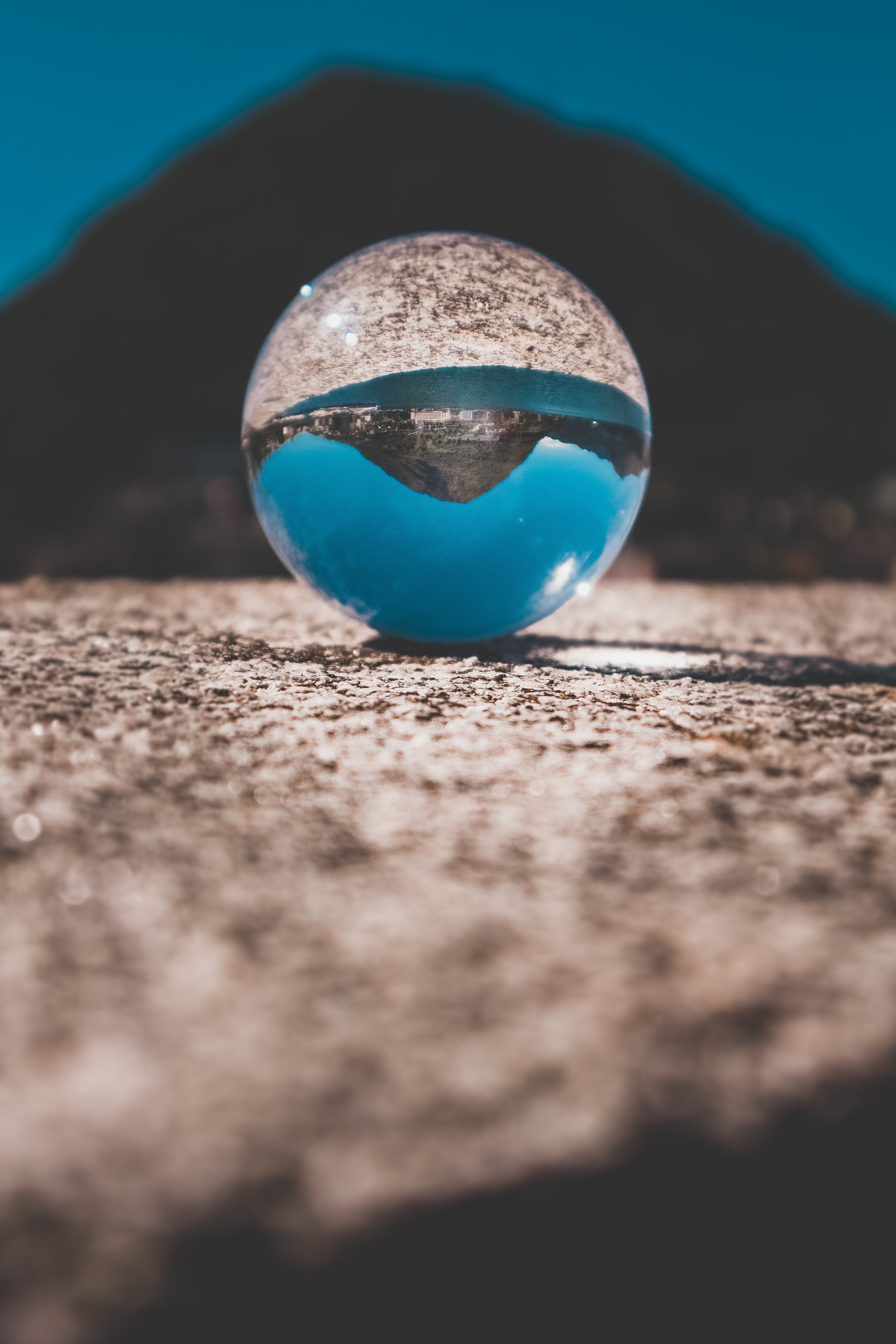 Shallow Focus Photography of Clear Glass Ball