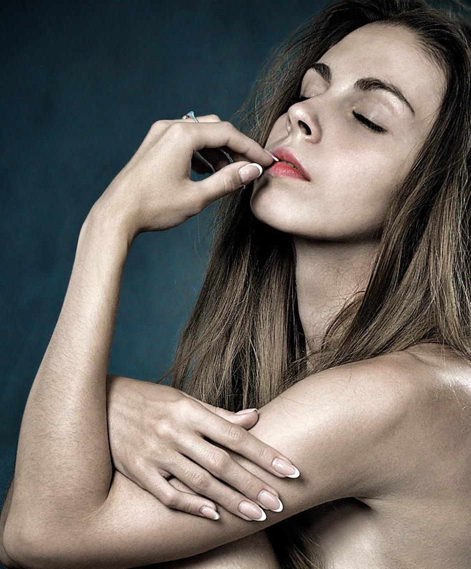 Topless Woman Portrait