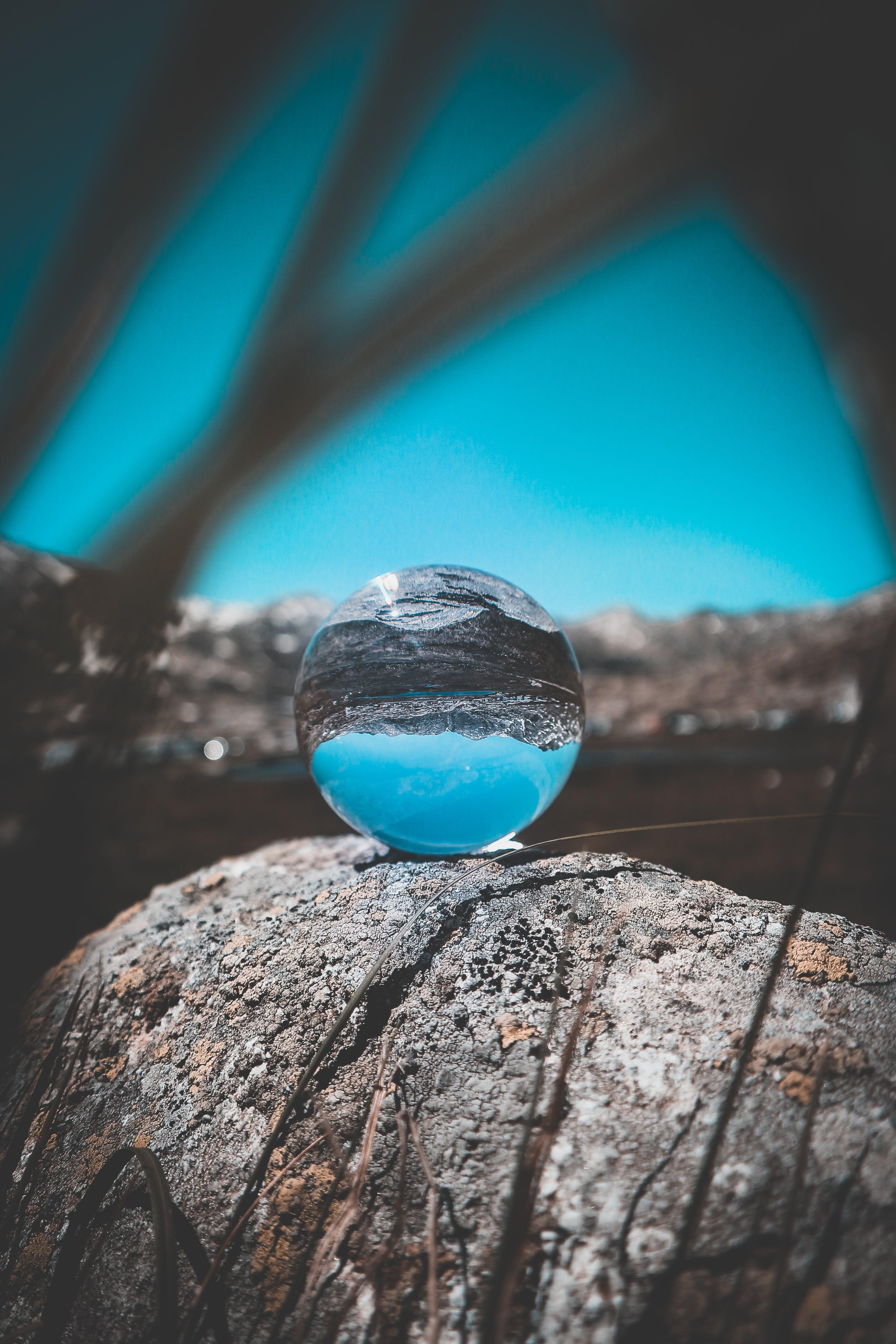 Crystal Ball on Rock