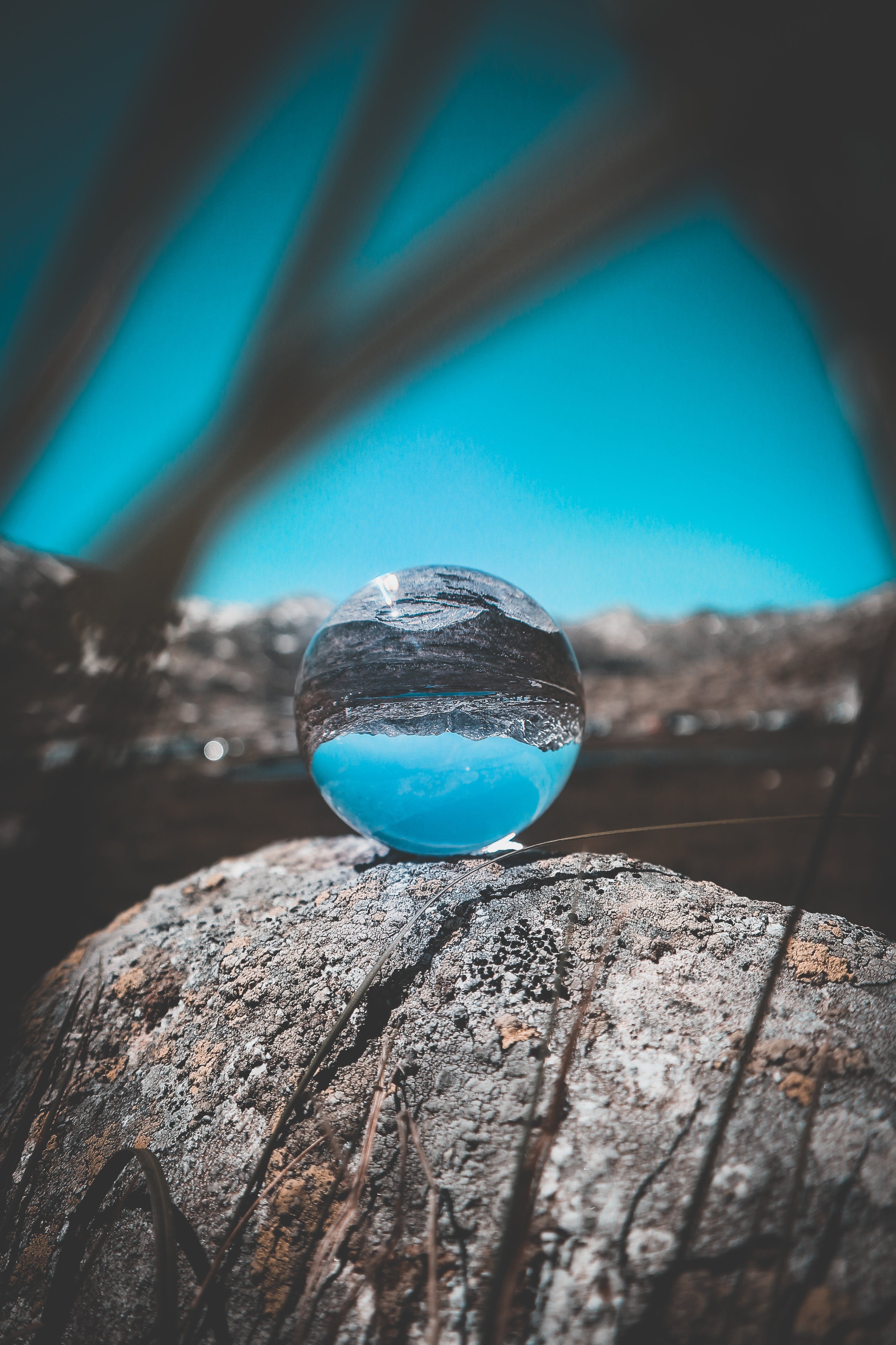 Crystal Ball on Rock