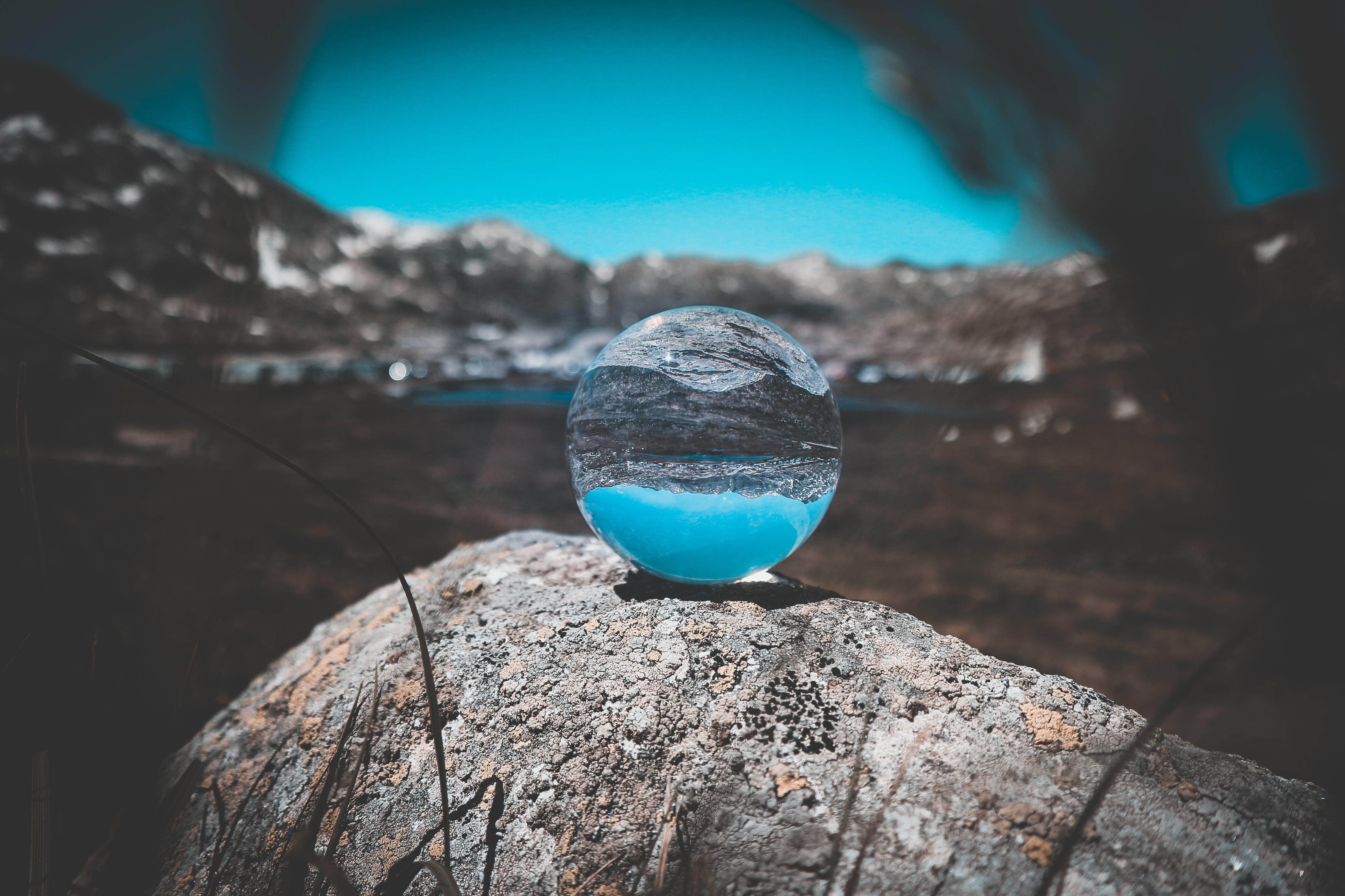 Crystal Ball on Top of Rock