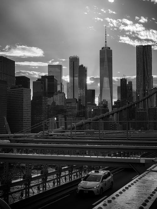 Kostenloses Stock Foto zu schwarz und weiß, world trade center