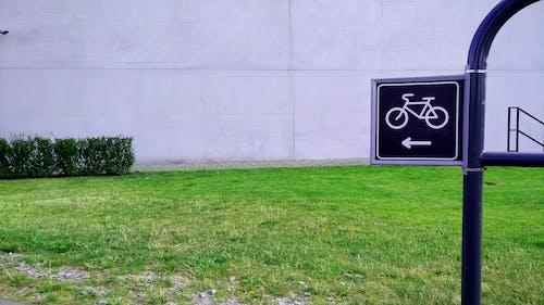 Бесплатное стоковое фото с дорожный указатель, дрога рерова, знак велосипеда, тарелка