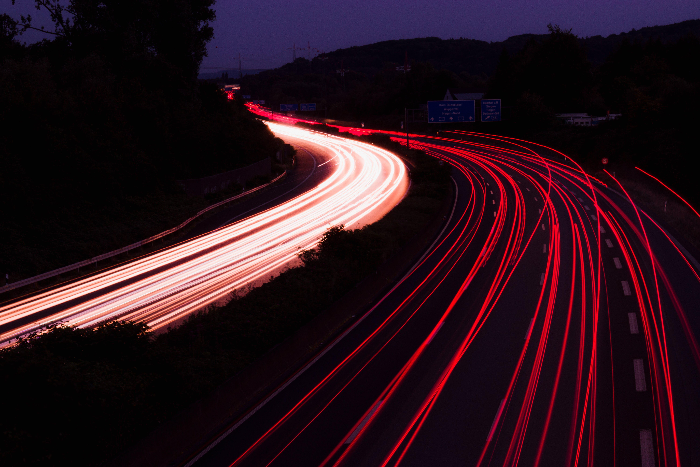 Red Lights on Street