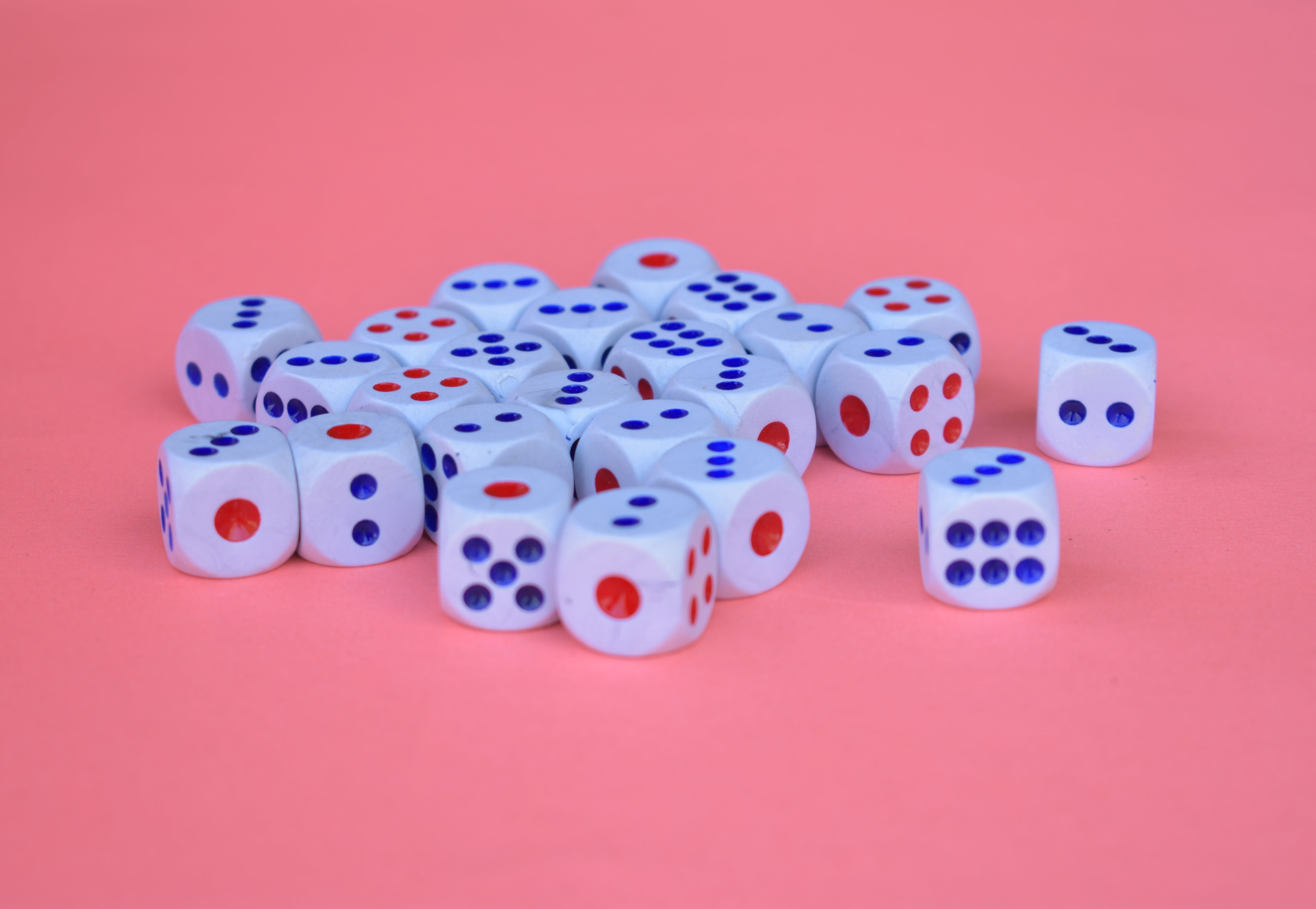 Blue, Red And White Dice