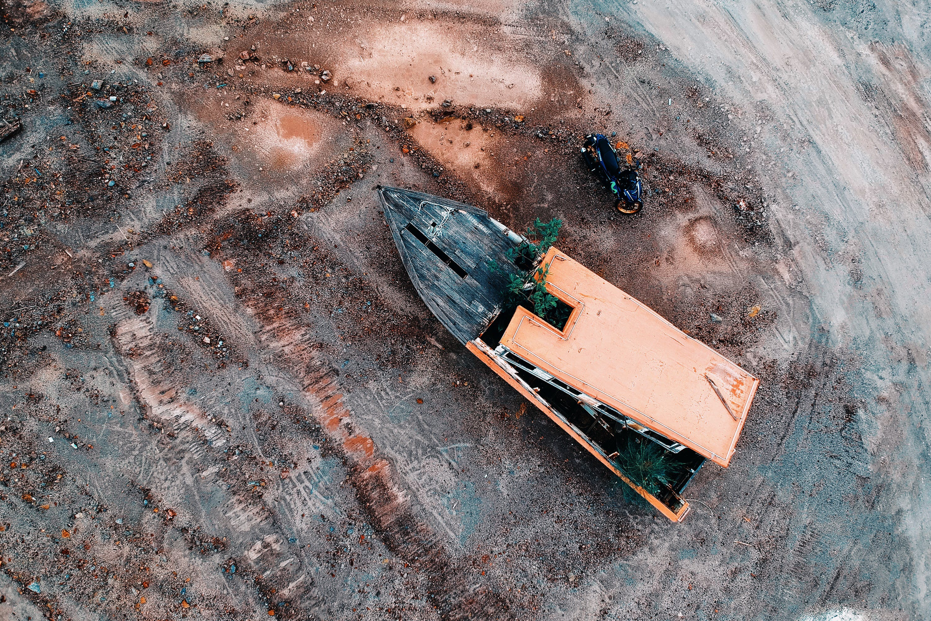 Aerial Photo Of Boat