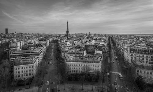 Free stock photo of black&white, cities, france