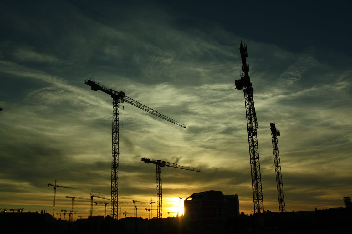 Silhouette Photography of Cranes