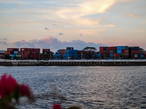 Free stock photo of blue, cargo containers, Philippines, red