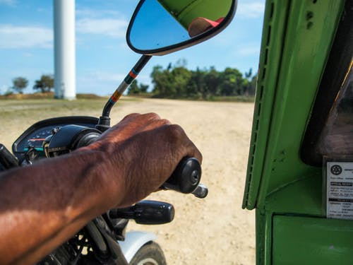 Free stock photo of driver, green, hand, mirror