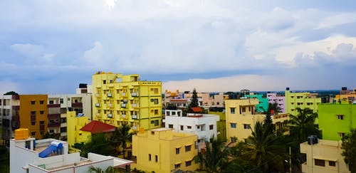 Foto profissional grátis de aguaceiro, área residencial, formação de nuvens, fotografia de rua