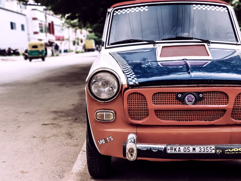 Free stock photo of fiat, old car, old is gold