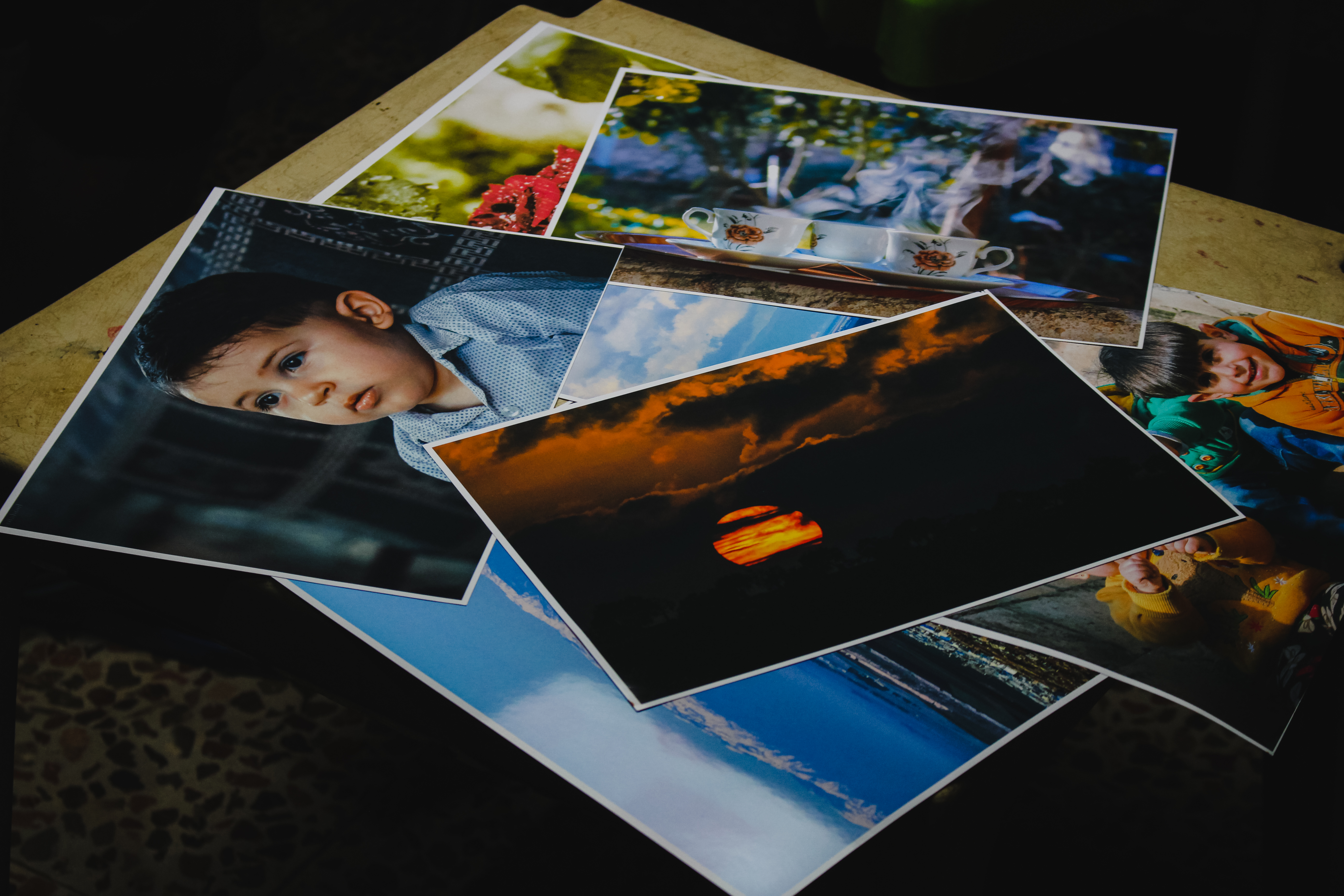 Close-up Shot Of Printed Photos