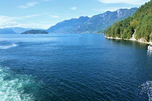 Imagine de stoc gratuită din cer albastru, coastă, munți, țărmul oceanului