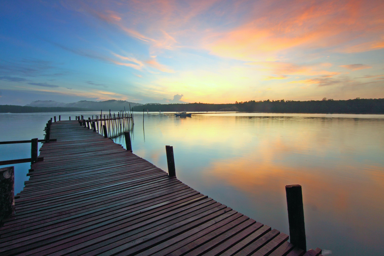 Fishing Dock on Calm Water