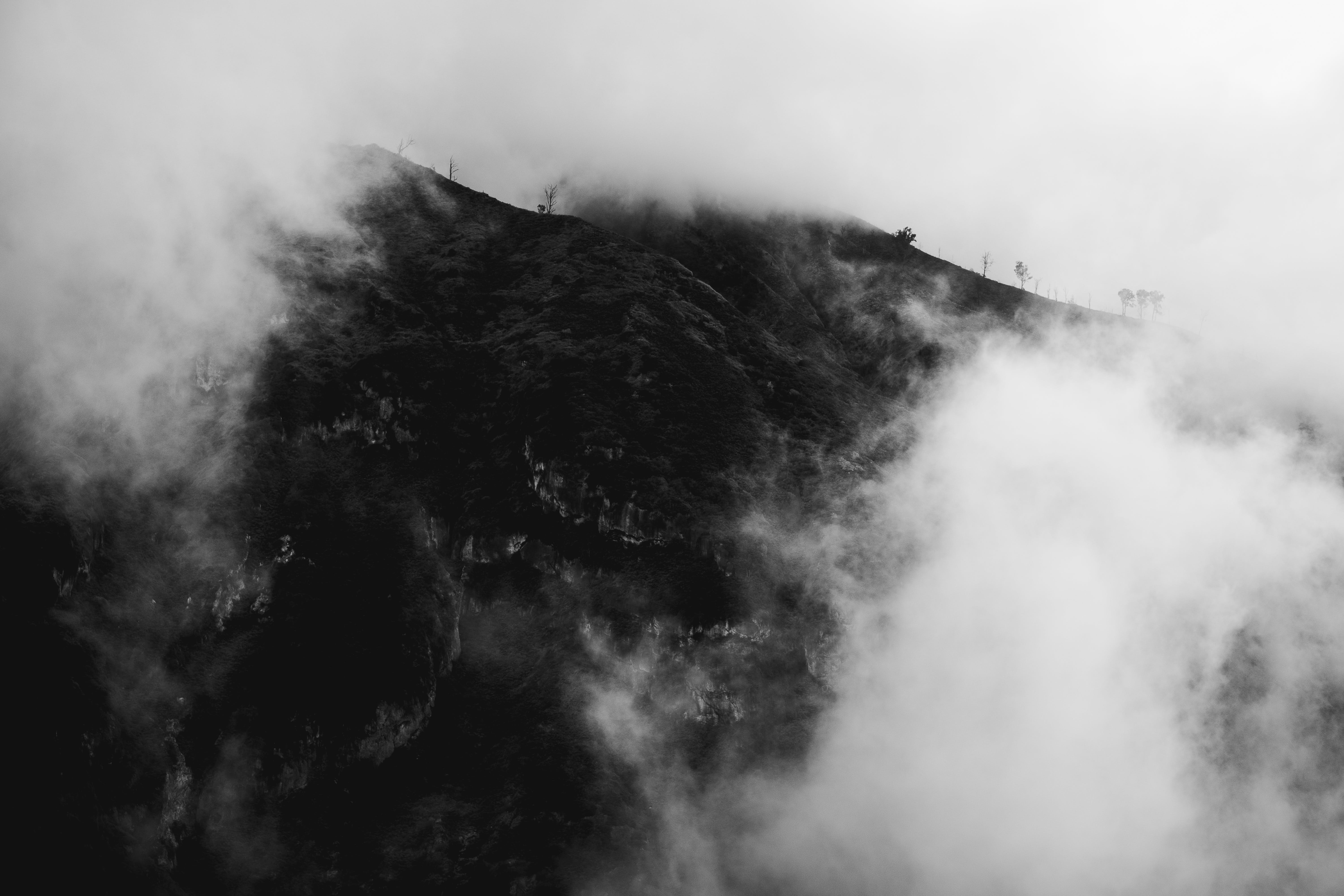 Free stock photo of bnw, indonesia, landscape, mountain