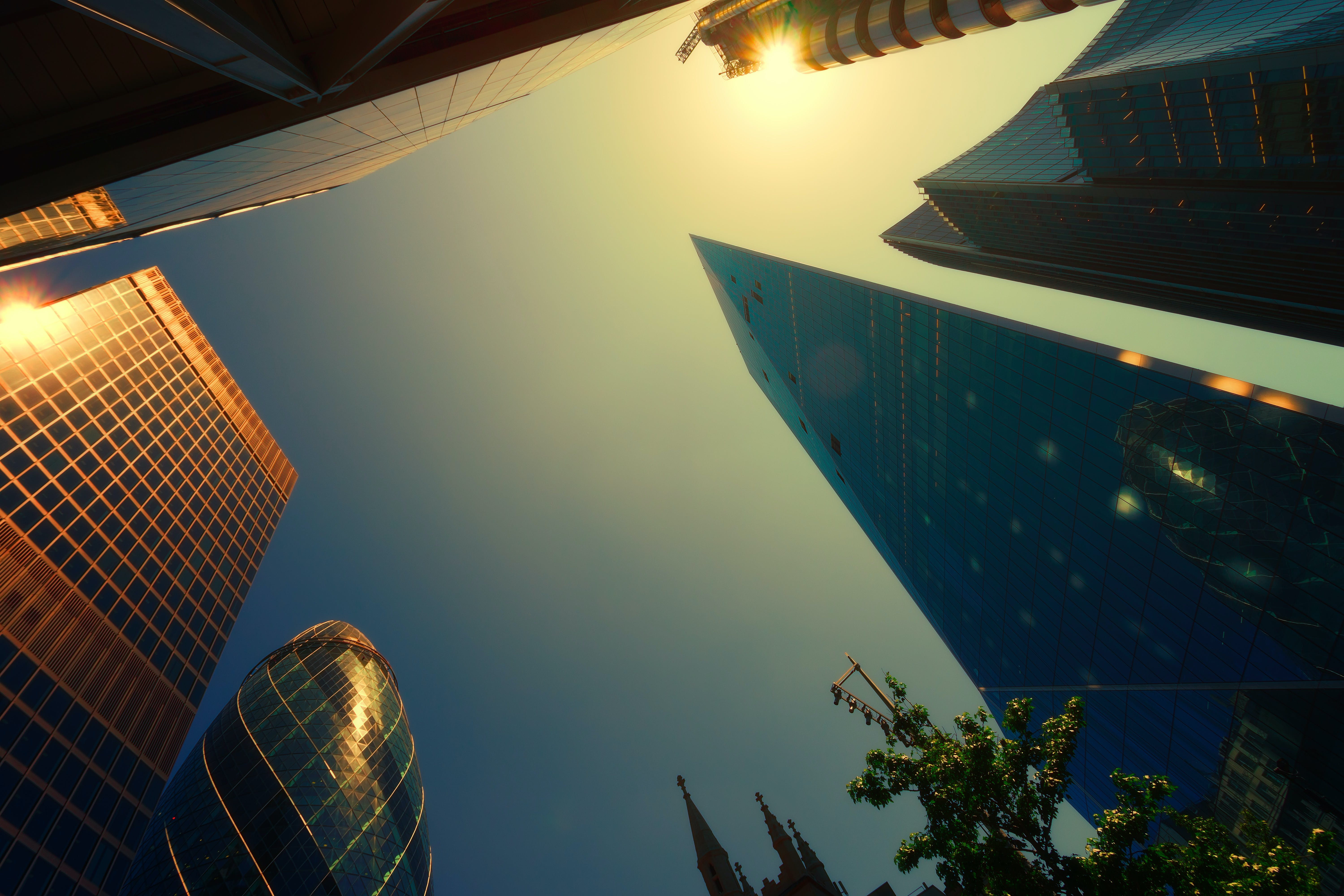Worm's Eyeview Photography of High Rise Buildings