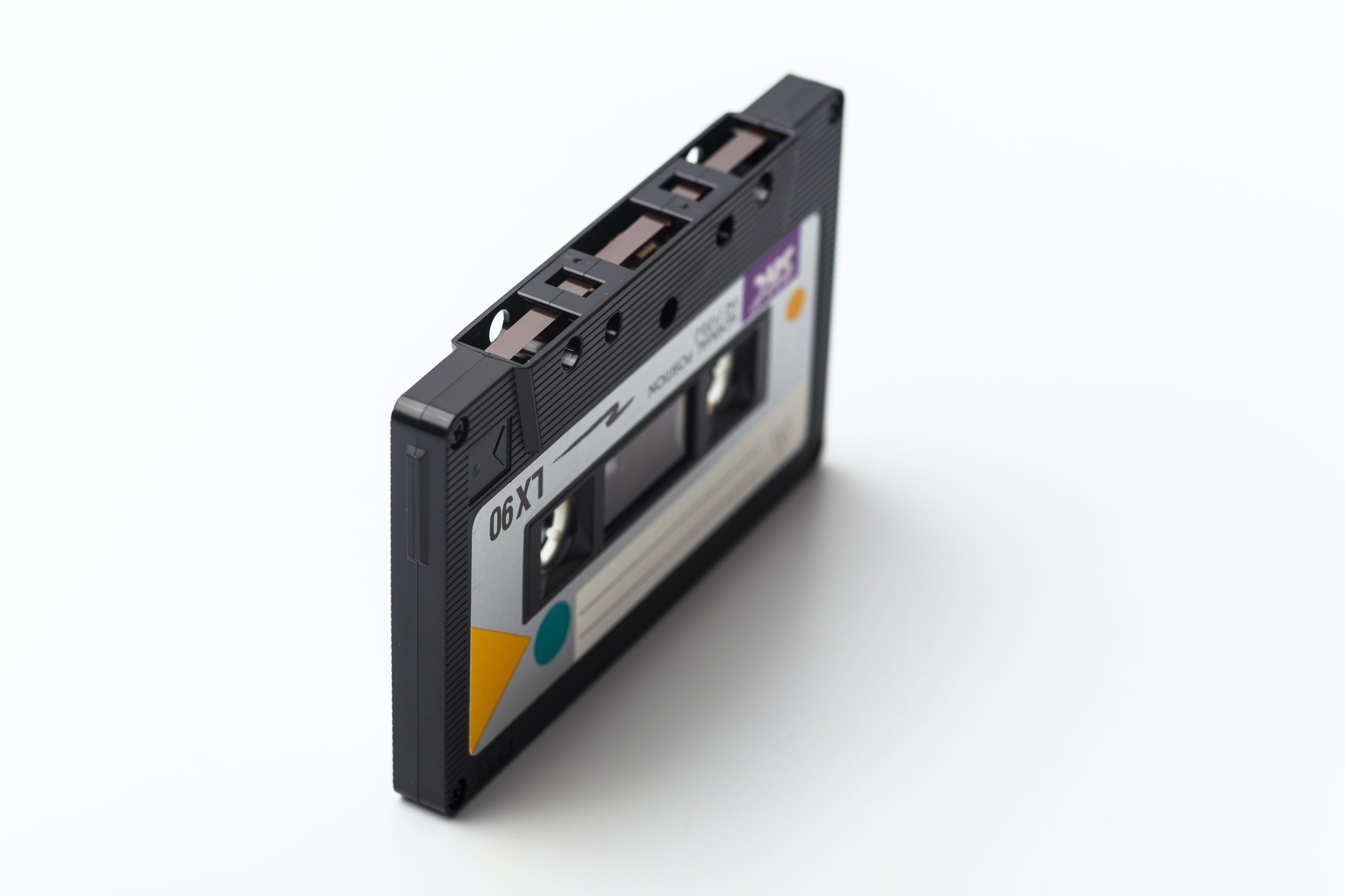 Black Lx90 Cassette Tape