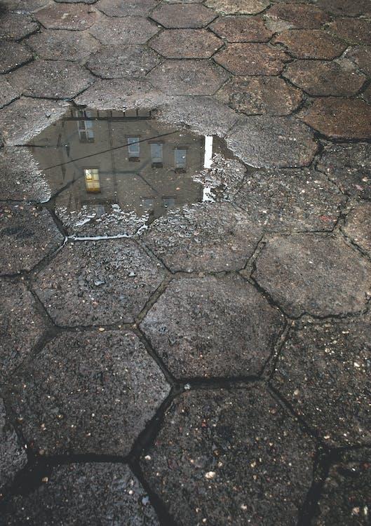 betón, budova, chodník
