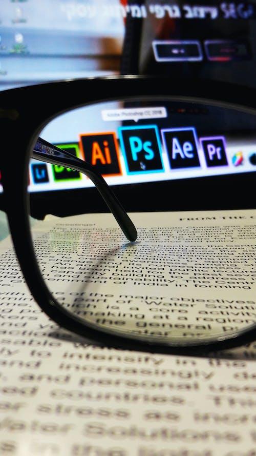 Kostenloses Stock Foto zu #ai, #bibliothek, #brille, #buch