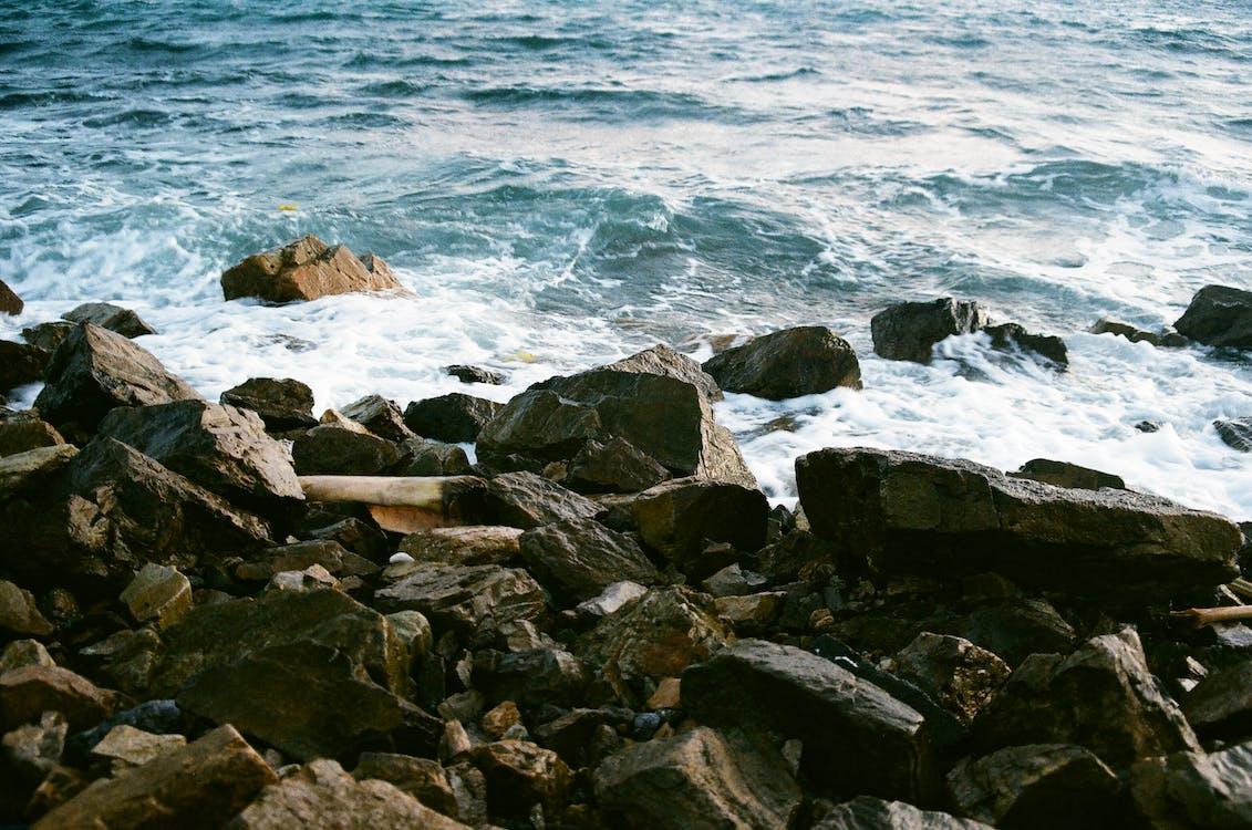 Water Splashing Through Rocks