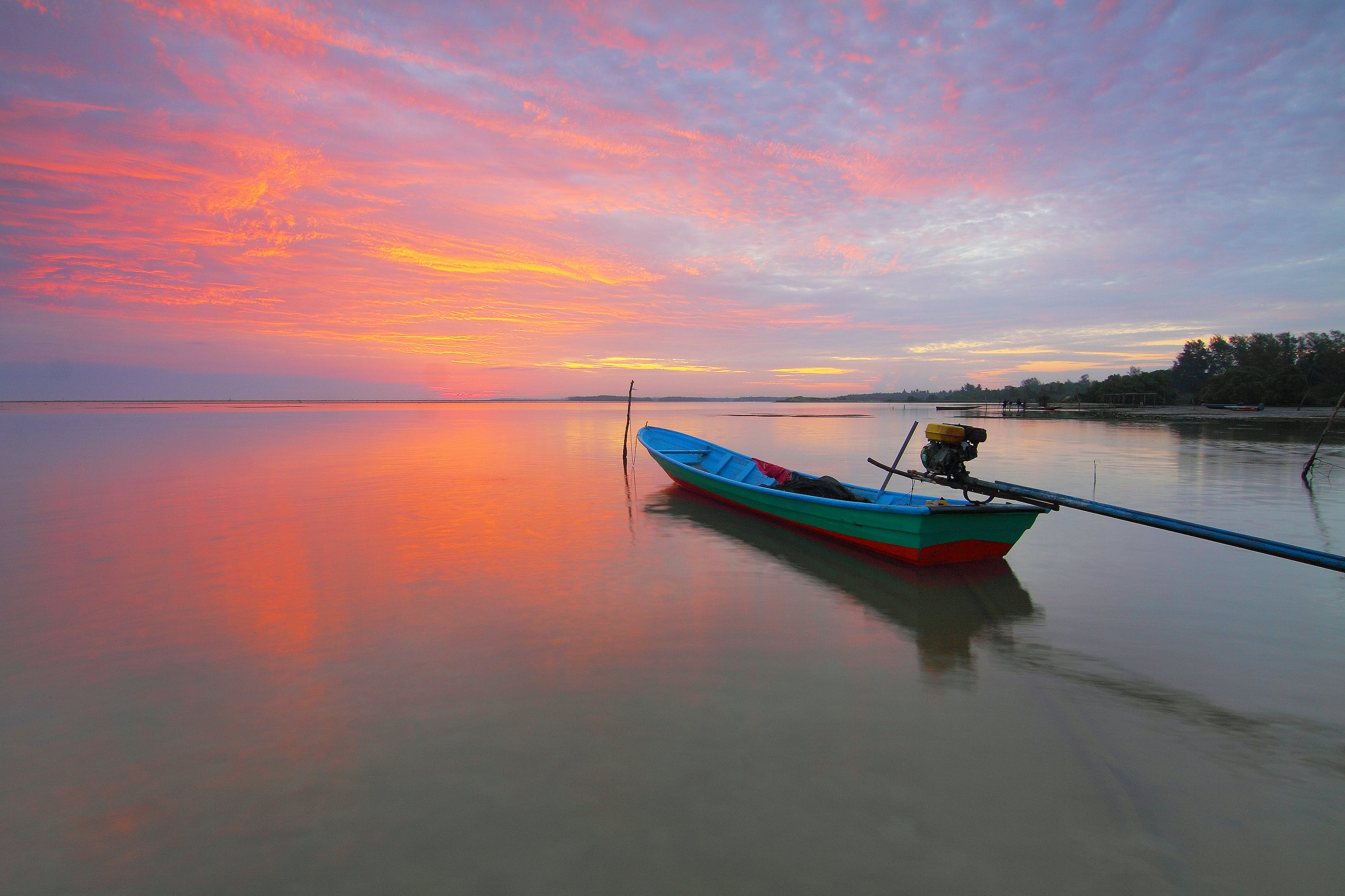 View of Boat on Water
