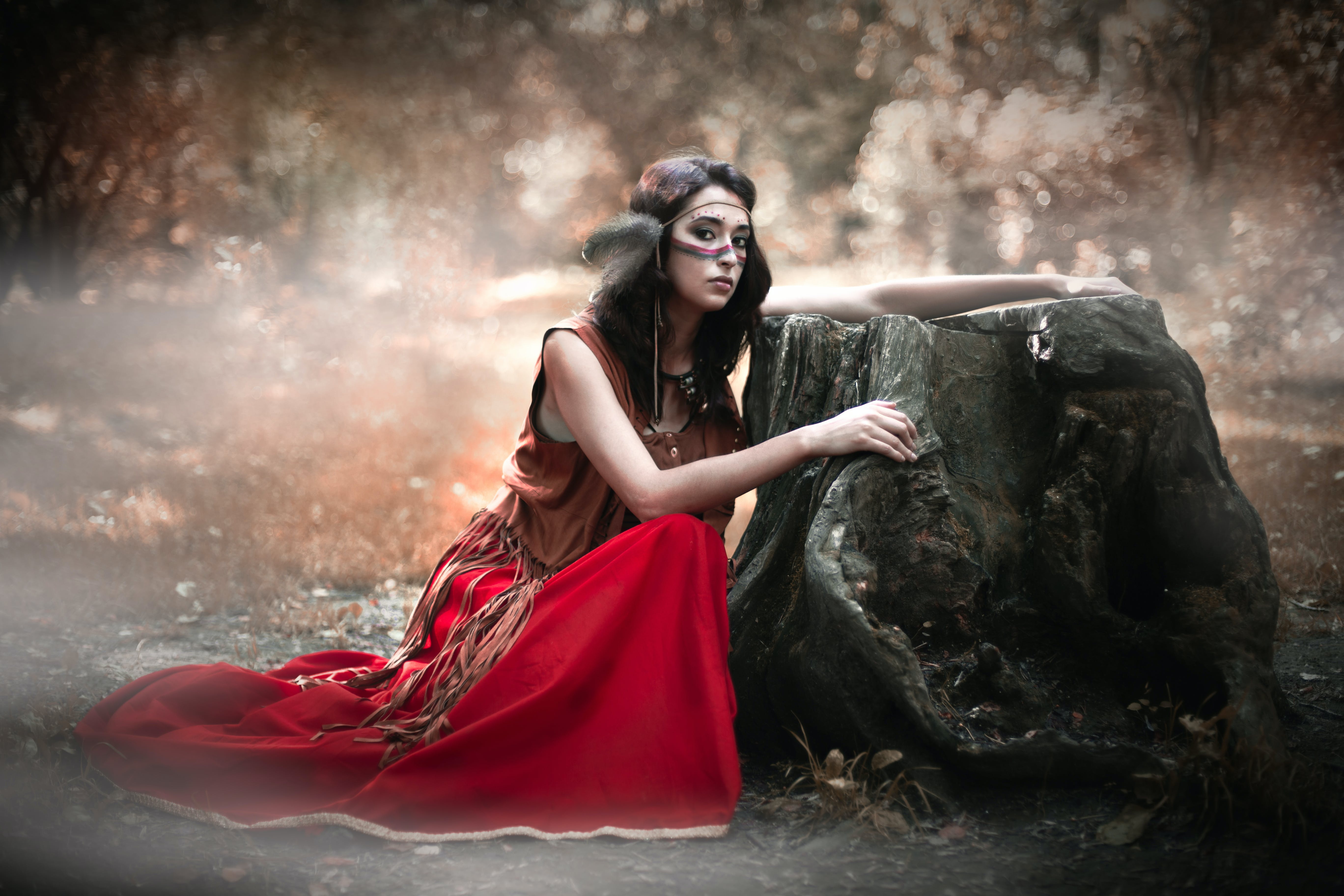 Free stock photo of fairy, red