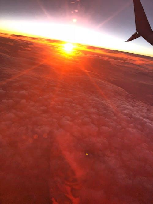 Ingyenes stockfotó esti ég, menny, piros ég, repülés témában