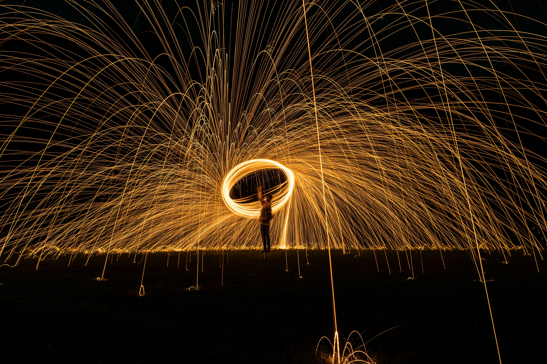 Gratis lagerfoto af lang eksponering, lys, nat, natfotografi