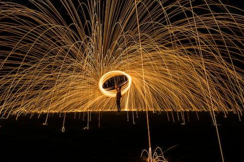Imagine de stoc gratuită din expunere lungă, fotografie de noapte, lumină, lumini