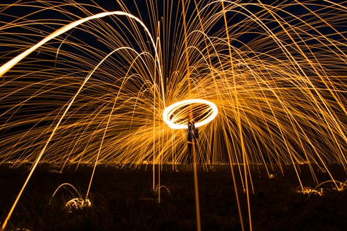 Steel-wool Photography of Man