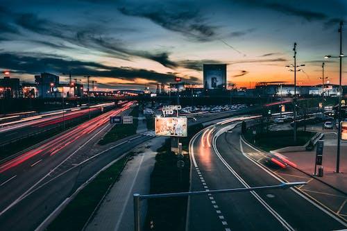 交通, 交通系統, 光迹, 城市 的 免費圖庫相片